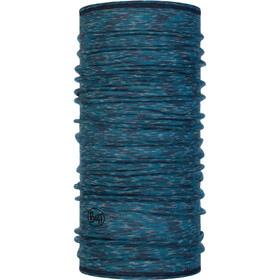 Buff Lightweight Merino Wool Neck Tube lake blue multi stripes